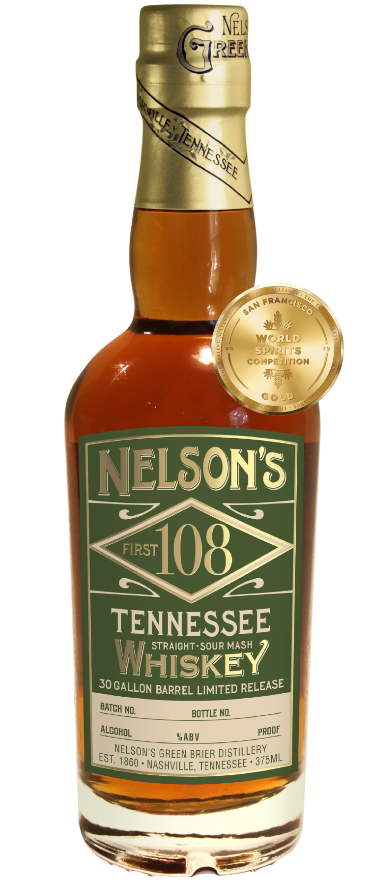 Nelson's Green Brier Distillery First 108 Tennessee Whiskey