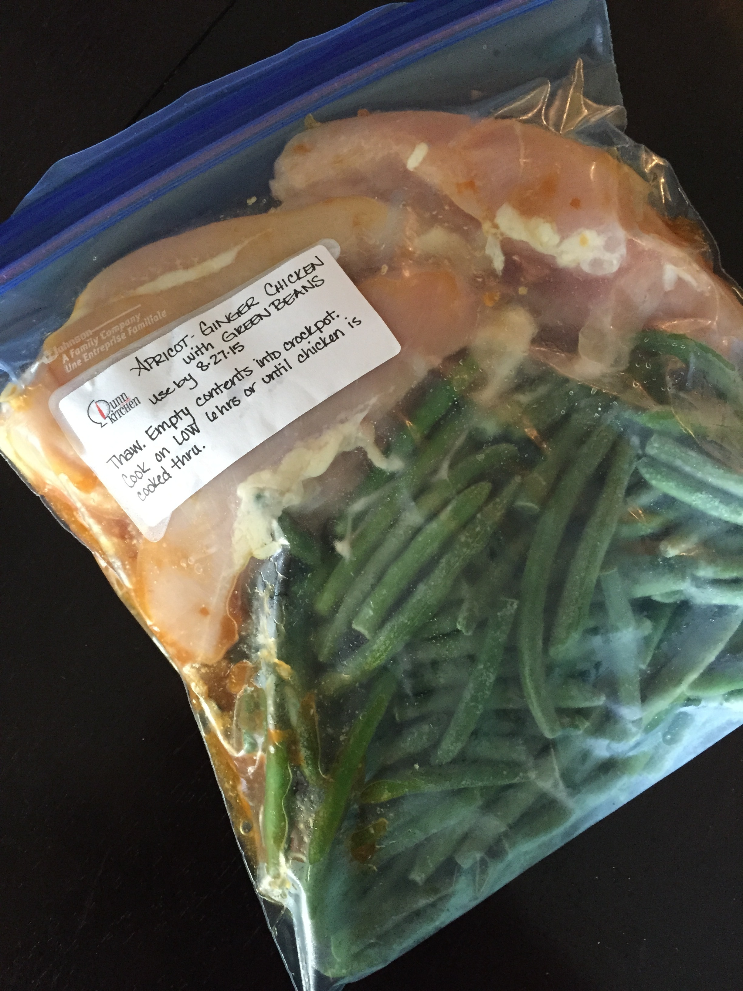 Copy of Apricot Ginger Chicken & Green Beans