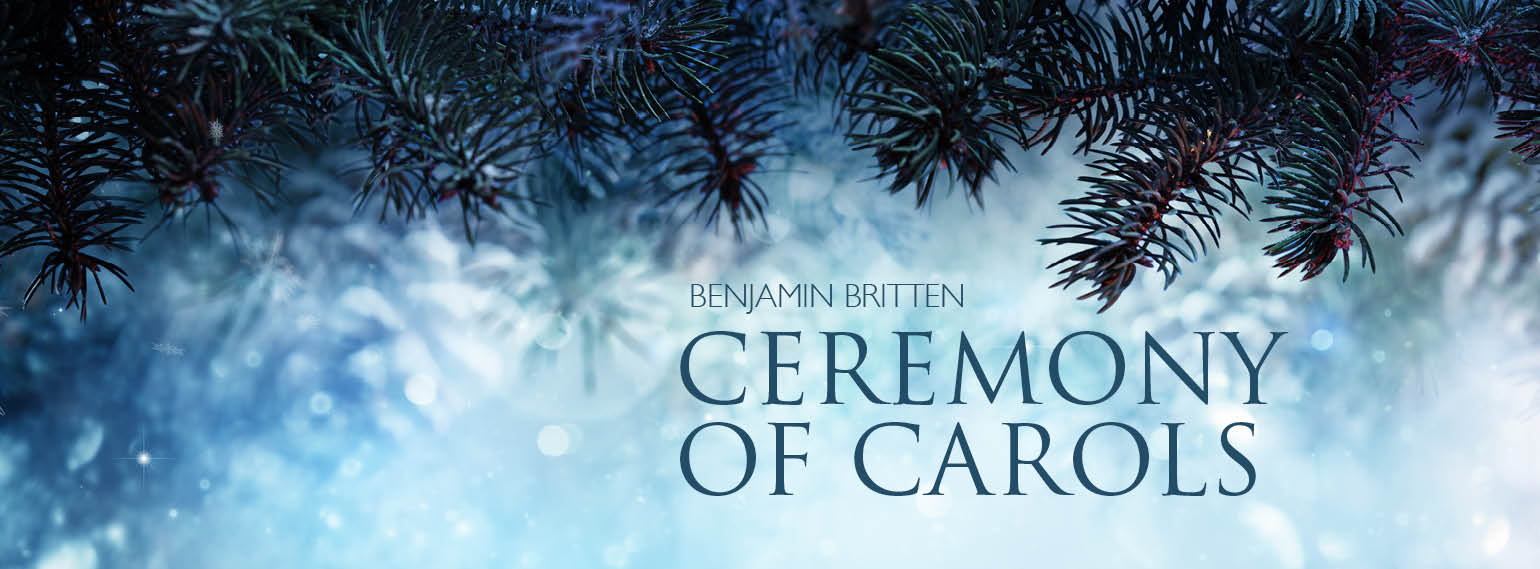 - Benjamin Britten's charming setting of Middle English and Middle Scots carol texts for harp and upper voices.For information and booking click here.