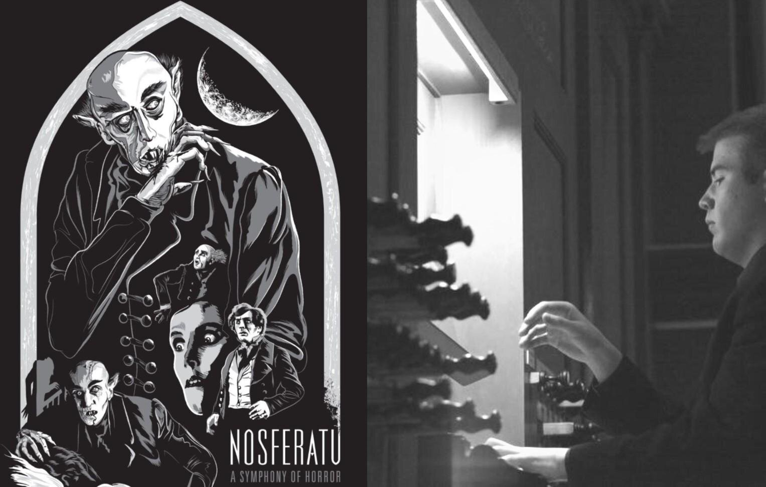 - New York theater organist Parker Ramsay accompanies the 1922 silent German Expressionaist horror film 'Nosferatu'.Tickets $10 - $20, but free to seniors as a West View News concert.For information and booking click here.