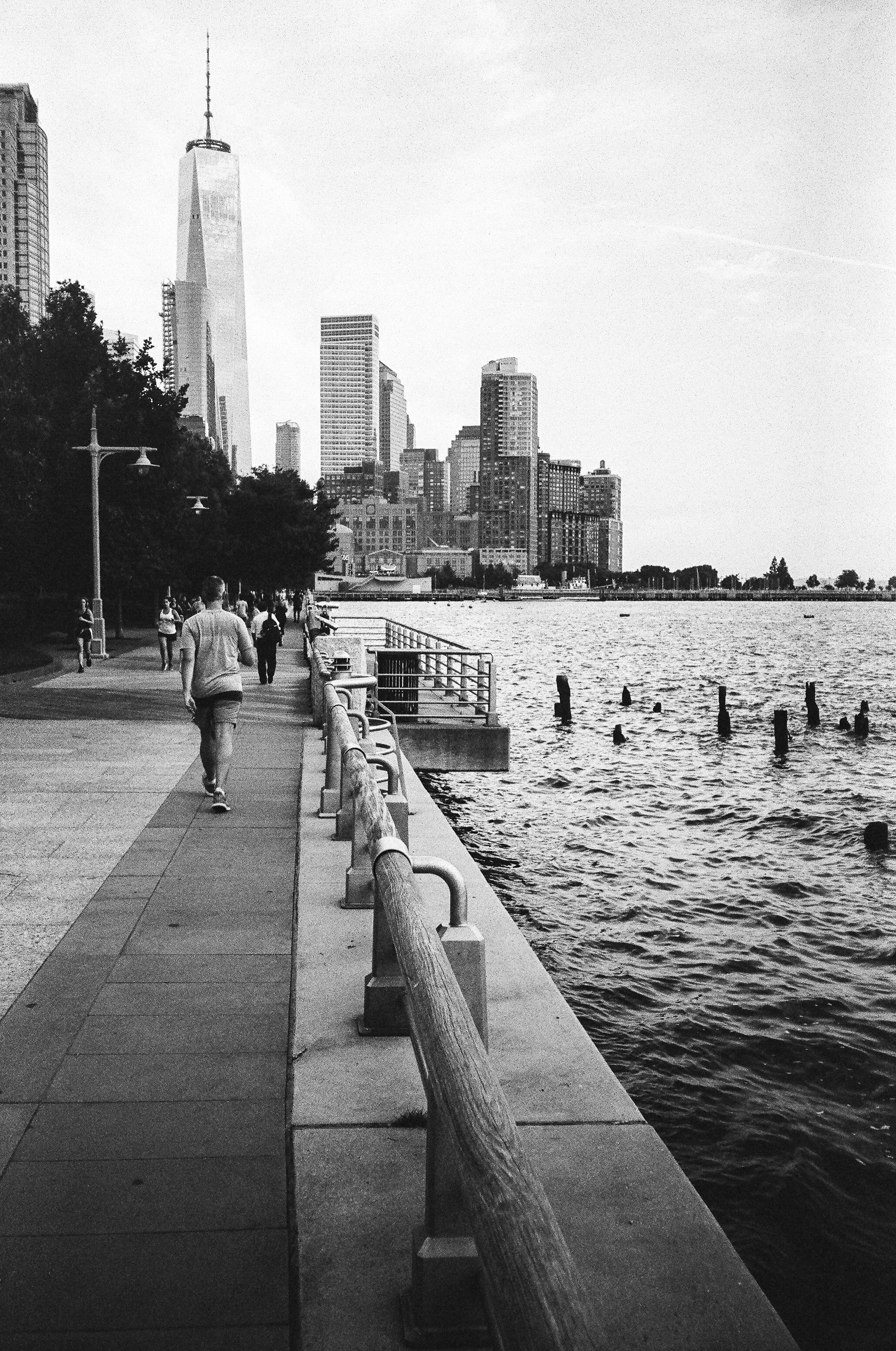 Hudson River bike path