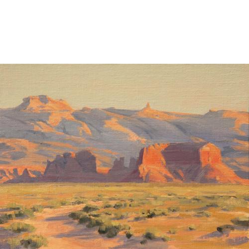 Distant Sandstone, 12x16, Oil on Linen Panel, Del Monte Fine Art