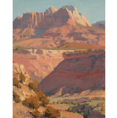 Kinesava From the By-Way, Oil on Linen Panel, LaFave Gallery