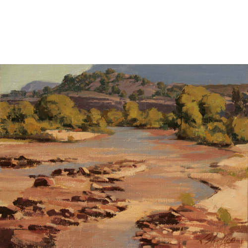 River, 9 x 12, Oil on Linen Panel, LaFave Gallery