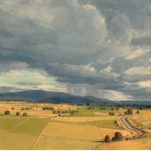 Summer Hay, 30 x 30, Oil on Linen, La Fave Gallery