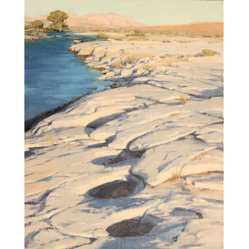 Pot Holes, 20 x 16, Oil on Linen Panel, LaFave Gallery