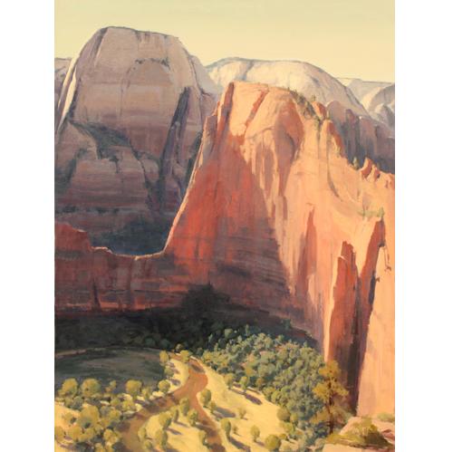 Angel's Landing, 48x36, Oil on Linen,  LaFave Gallery