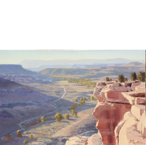 Grafton Flats and Mesa Top, 20 x 30, Oil on Linen, Illume Gallery
