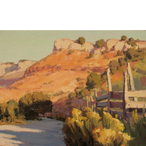 Corral on Grafton Road, 11 x 14, Oil on Linen Panel, LaFave Gallery