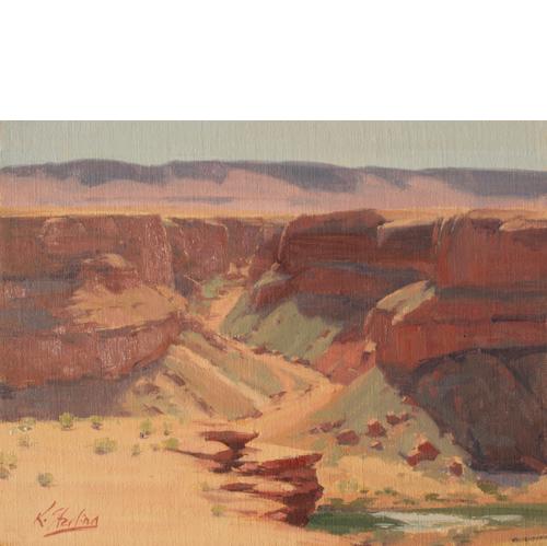 Marble Canyon, 11 x 14, Oil on Linen Panel,  Del Monte Fine Art