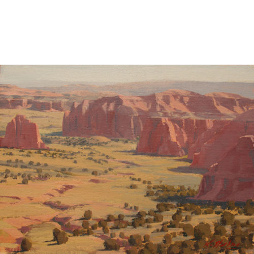 Cathedral Valley, 11x14, Oil on Linen Panel, LaFave Gallery