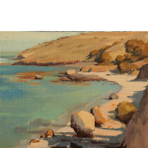 Beach at Two Harbors Catalina, 11x14, Oil on Linen Panel, Kate Starling