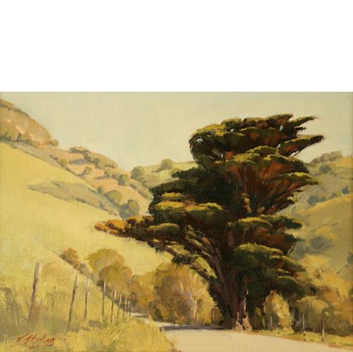 Country Road, 14 x 18, Oil on Linen Panel, Del Monte Fine Art