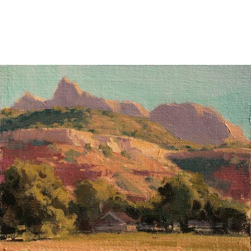 Neighbors, 6 x 8, Oil on Linen Panel, Illume Gallery