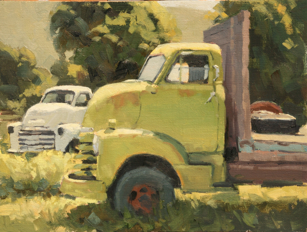 Green Truck, 12x16, LaFave Gallery