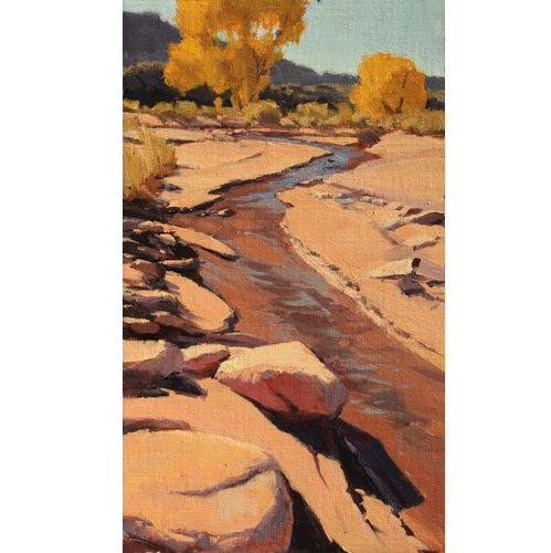 """Horse Valley Wash, 16""""x 20"""", Oil on Linen"""