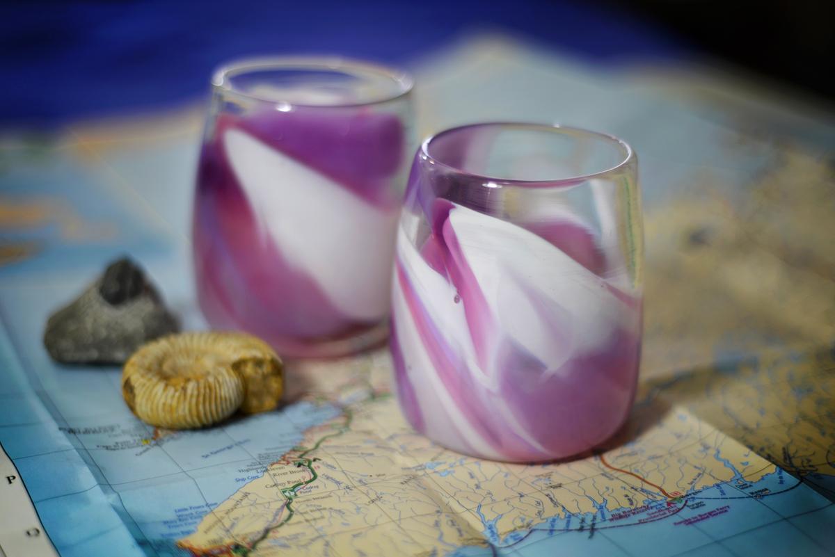 Cloud Atlas Drinking Glasses - Purple