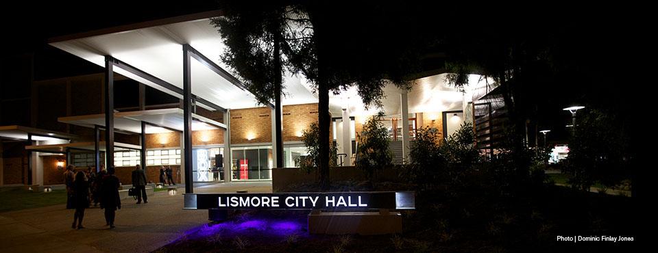 Lismore City Hall, Photo by Dominic Finlay-Jones