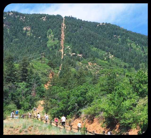 Locals said I couldn't leave Colorado without doing The Manitou Incline hike. What a great one - The Incline is famous for its sweeping views and steep grade, as steep as 68% in places, near Colorado Springs. The incline gains over 2,000 feet of elevation in less than one mile and the view from the top was amazing.