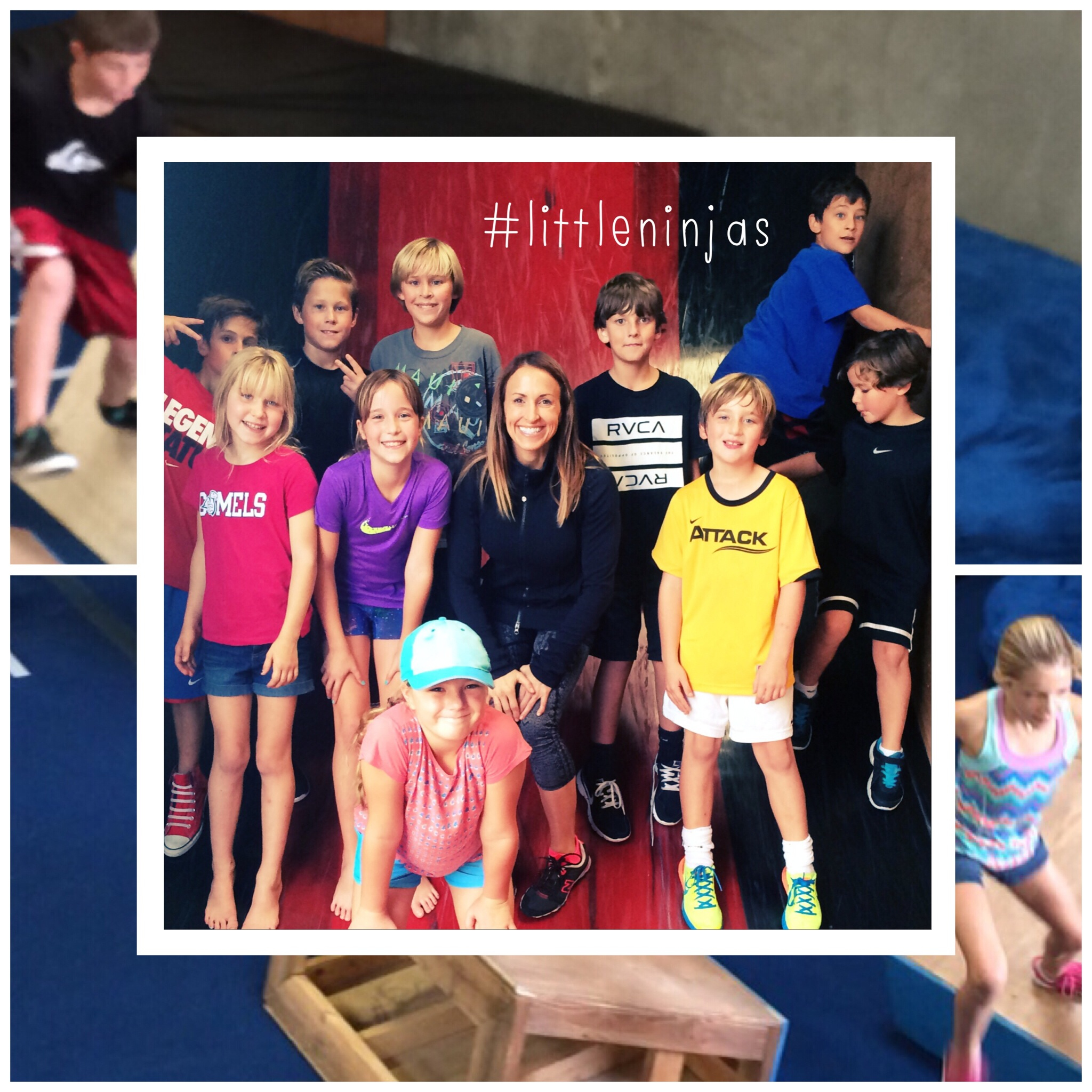 Watch out American Ninja Warrior Season 18. These #littleninjas are training and having fun: running quintuple steps, balancing on wooden beams, rolling on wheels, and attempting the warped wall. Go #littleninjas!