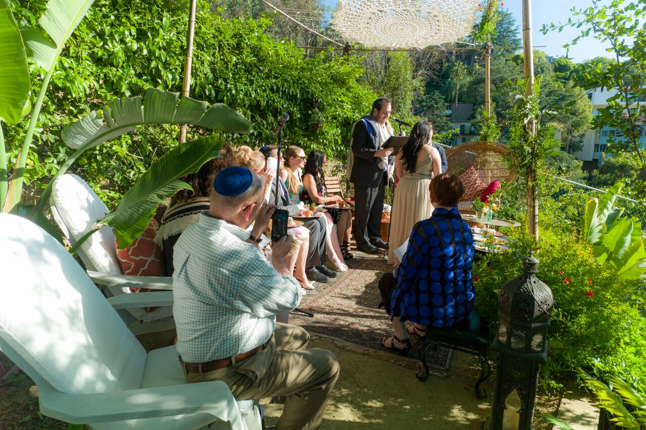 Chuppah Floral Design - Backyard Wedding