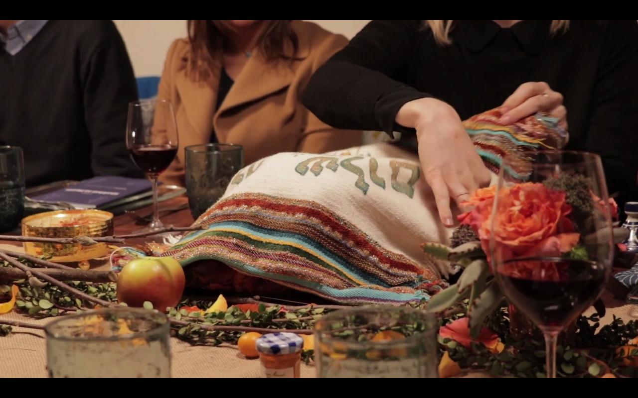 Tablescape Design -  Miller Introduction to Judaism  Program (Video Still)