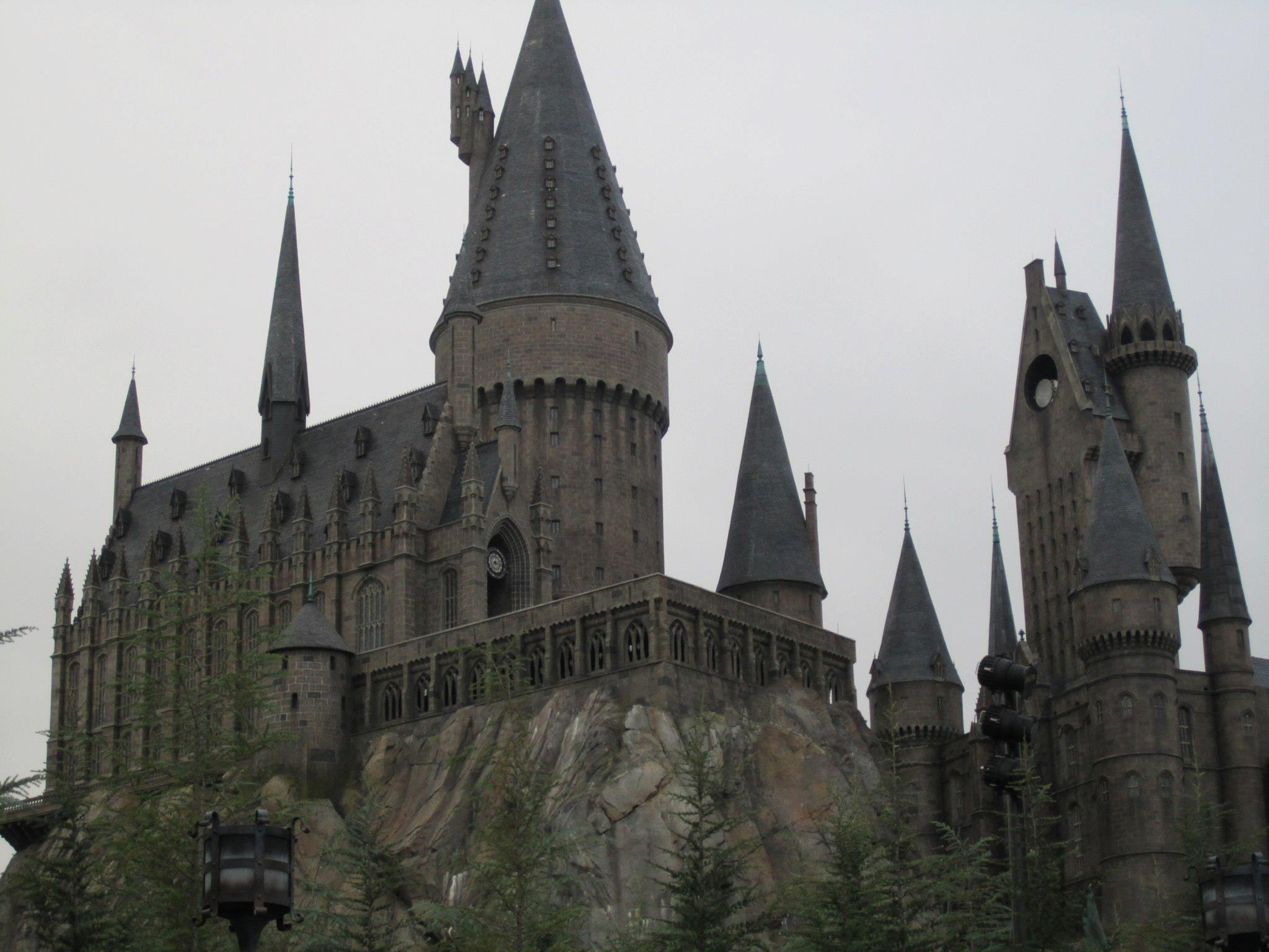 Hogwarts in the Universal Orlando Park.