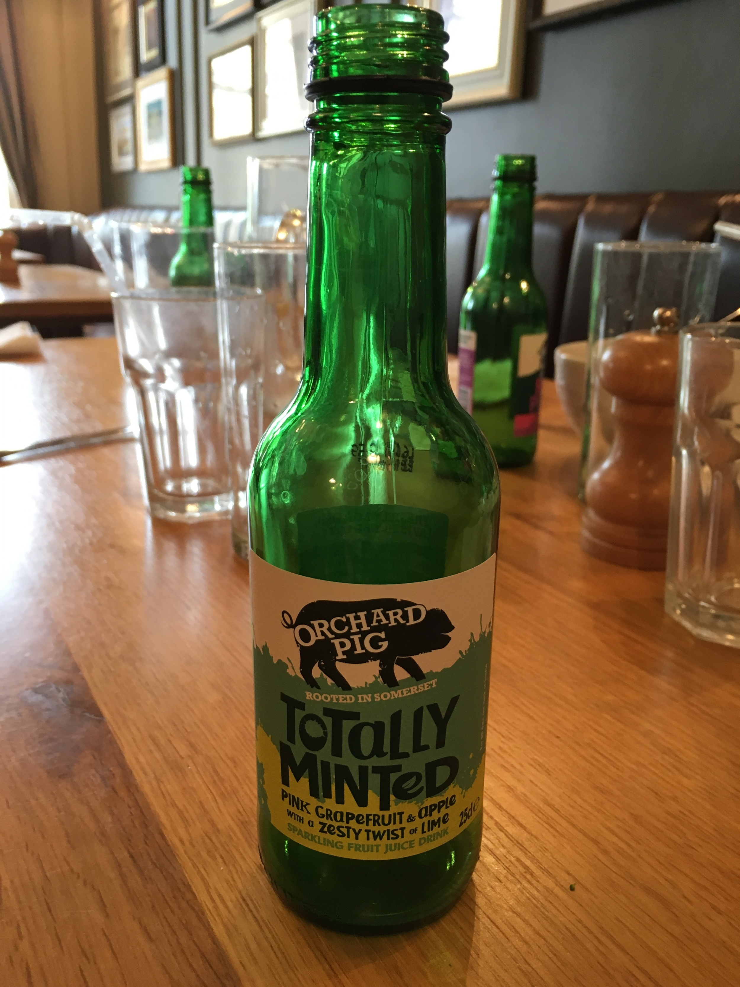One of the Orchard Pig sodas.
