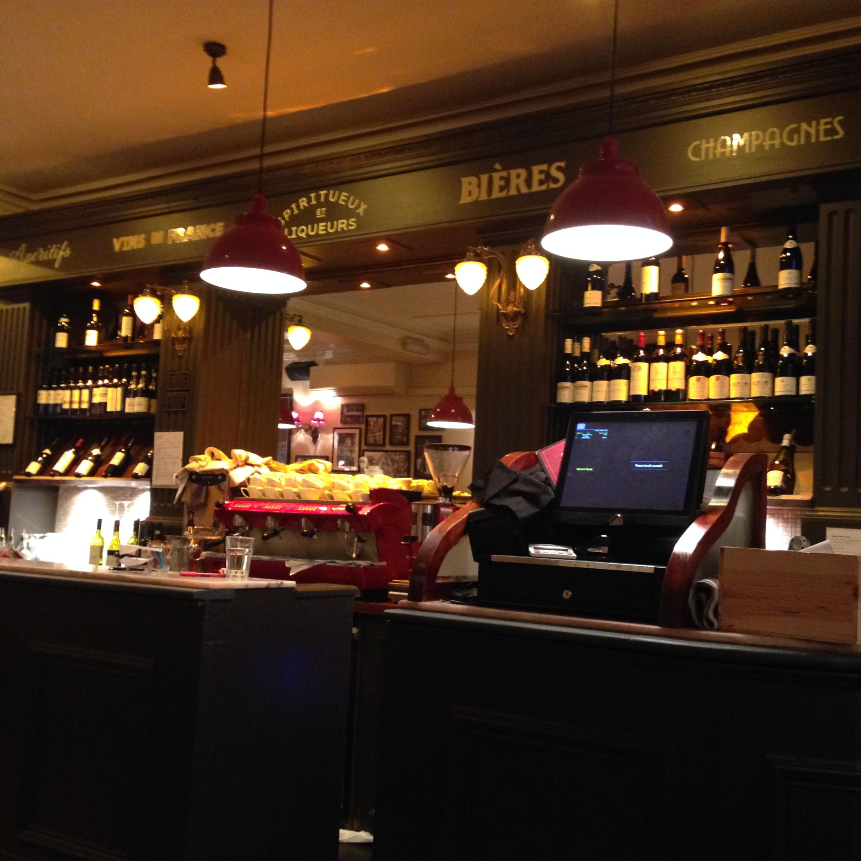 The coffee/bar area.