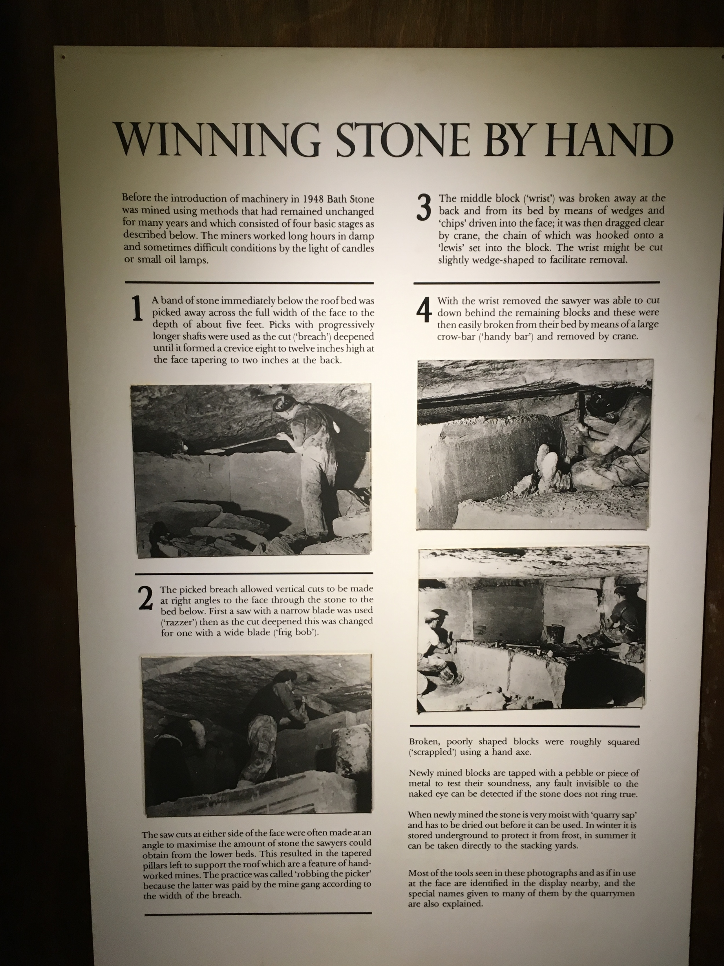 An explanation of the process of winning stone.