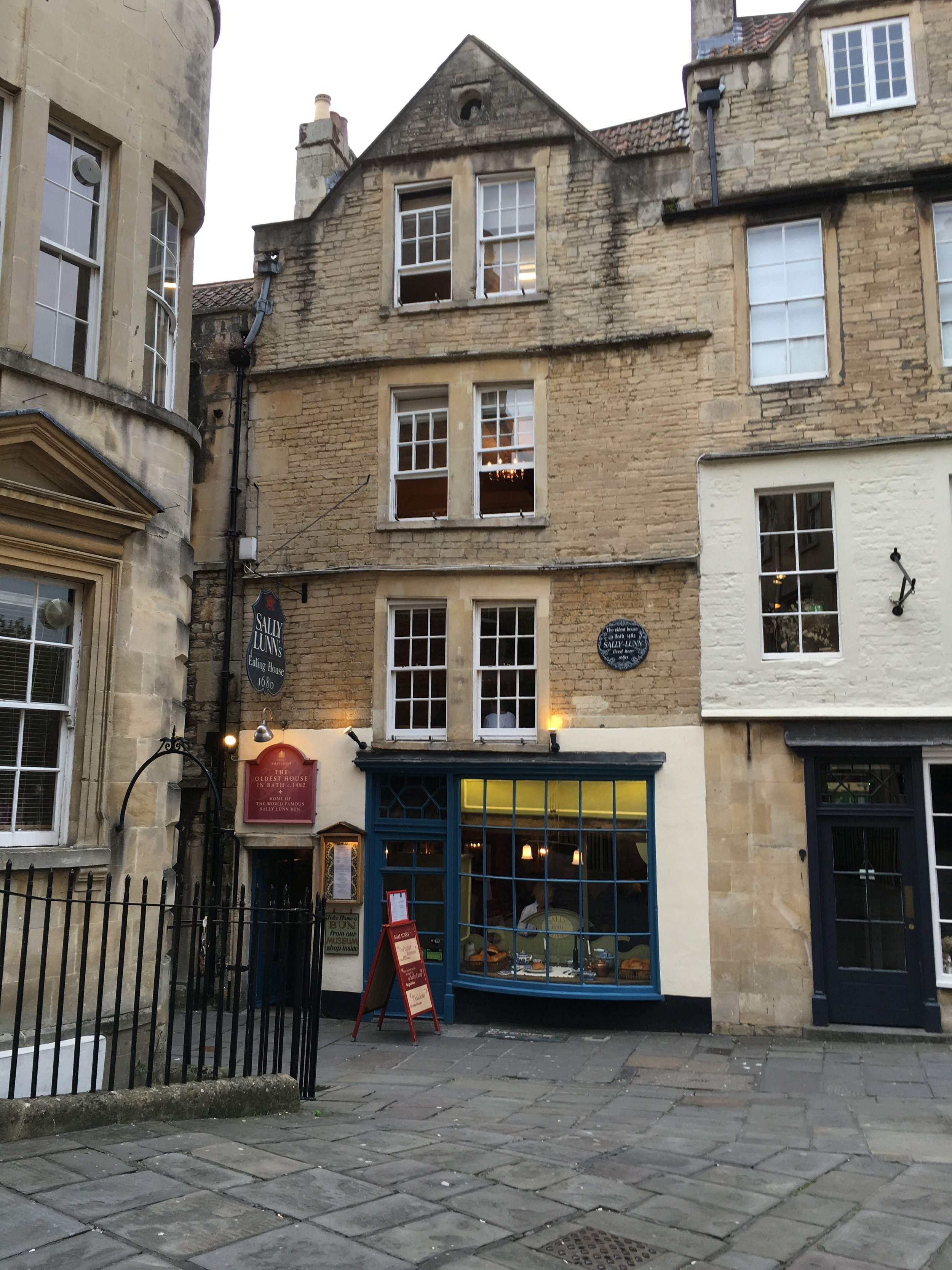 The Sally Lunn Bun restaurant - the same building Sally Lunn lived in and operated her restaurant out of.