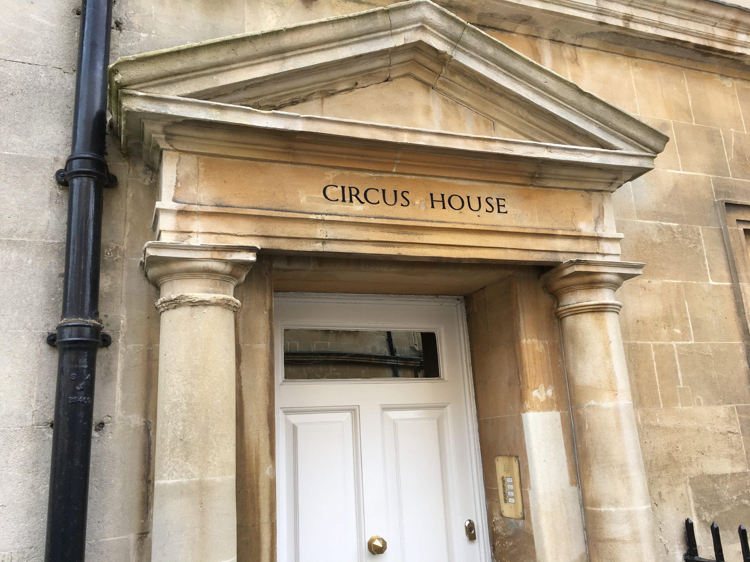 The home of a famous architect who designed many of the buildings in Bath.