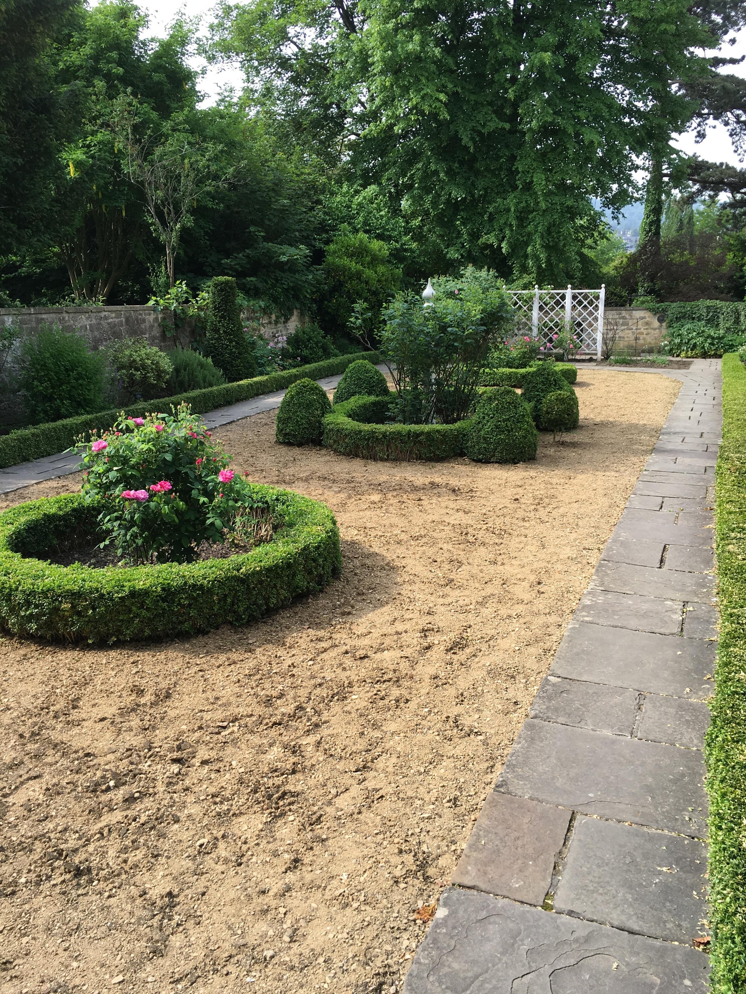 Part of the Georgian garden.