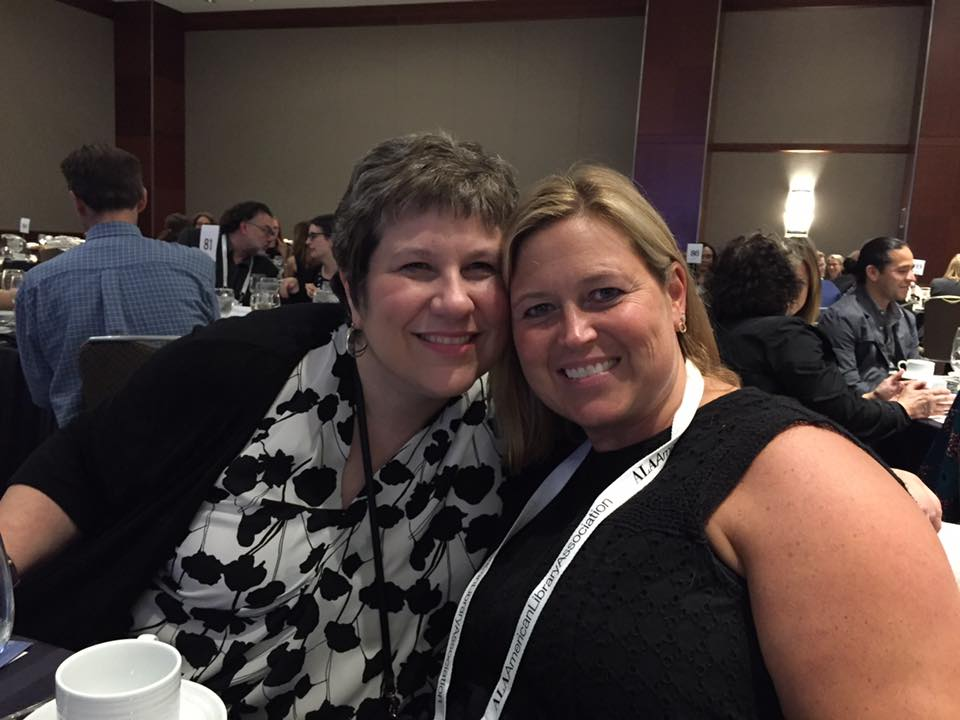 me and Michele at the Newbery Banquet