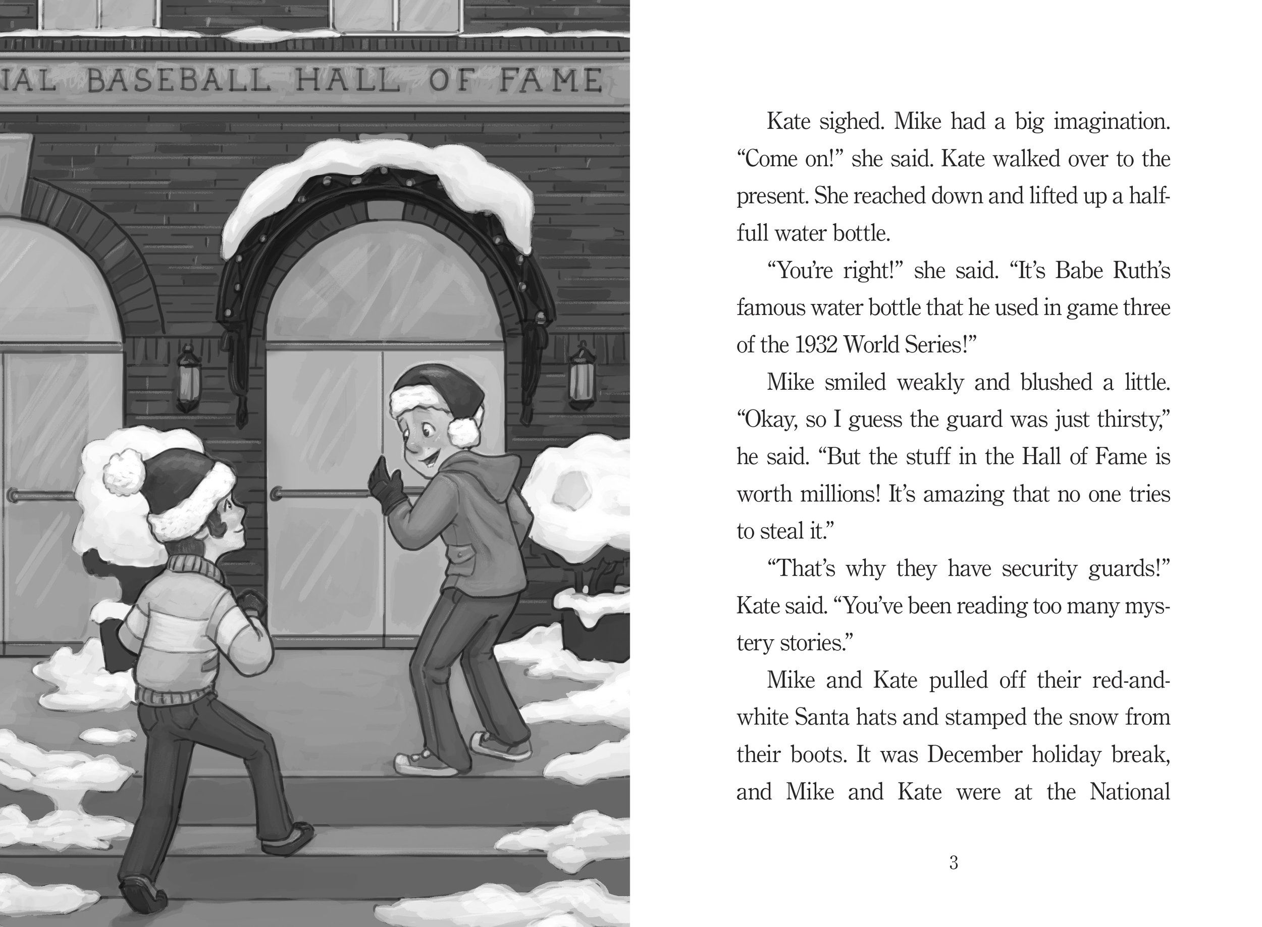 Interior from CHRISTMAS IN COOPERSTOWN by David Kelly, illus © 2017 Mark Meyers_pp 2-3.jpg
