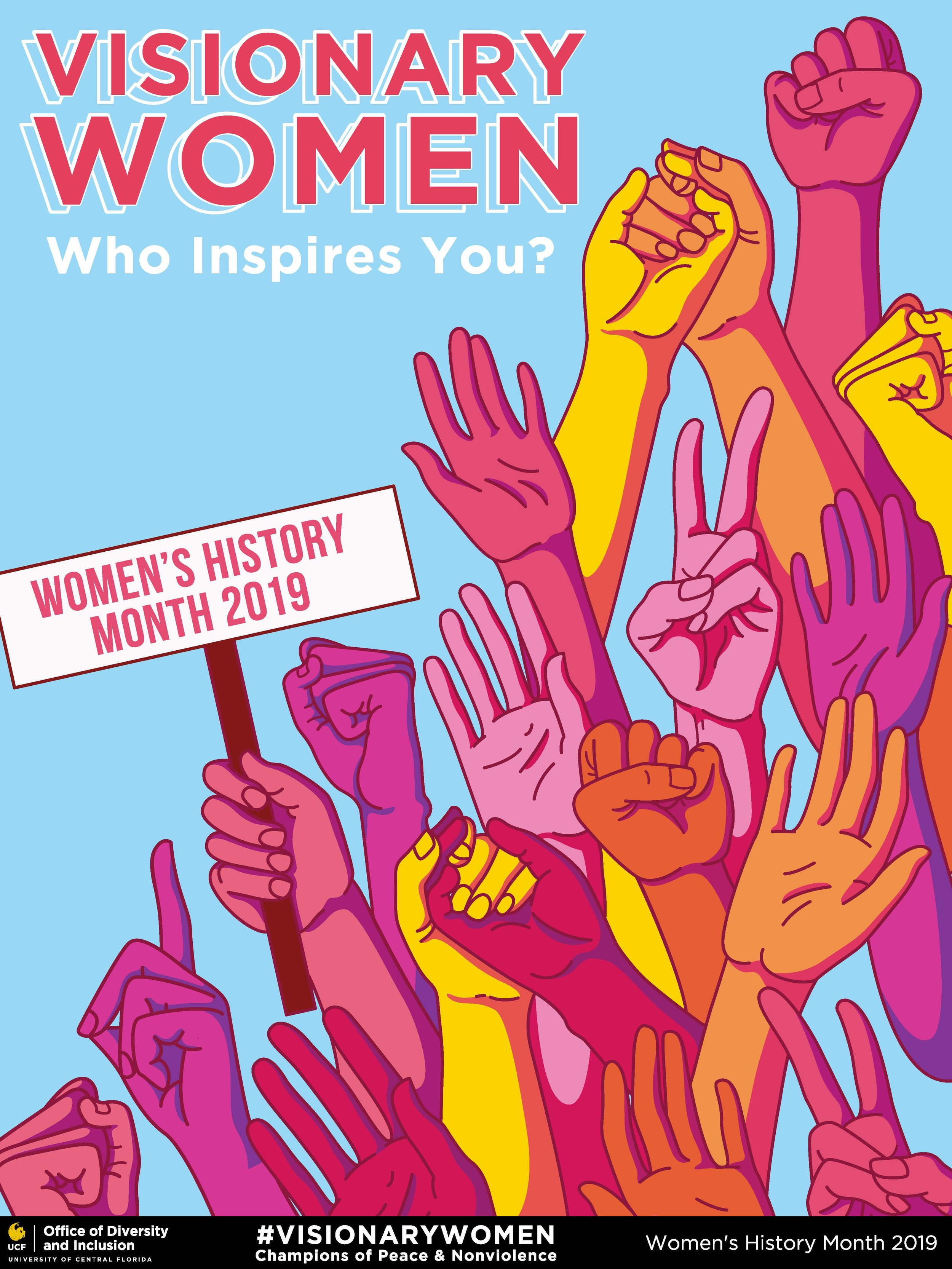 UCF 2019 Women's History Month Poster