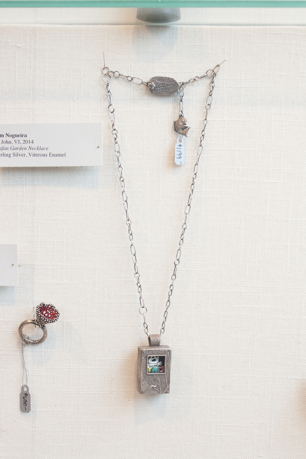 Seafan Garden Necklace by Kim Nogueira; enamel, copper and silver