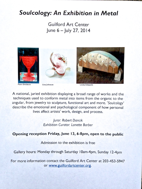 Soulcology invitation at the Guilford Art Center