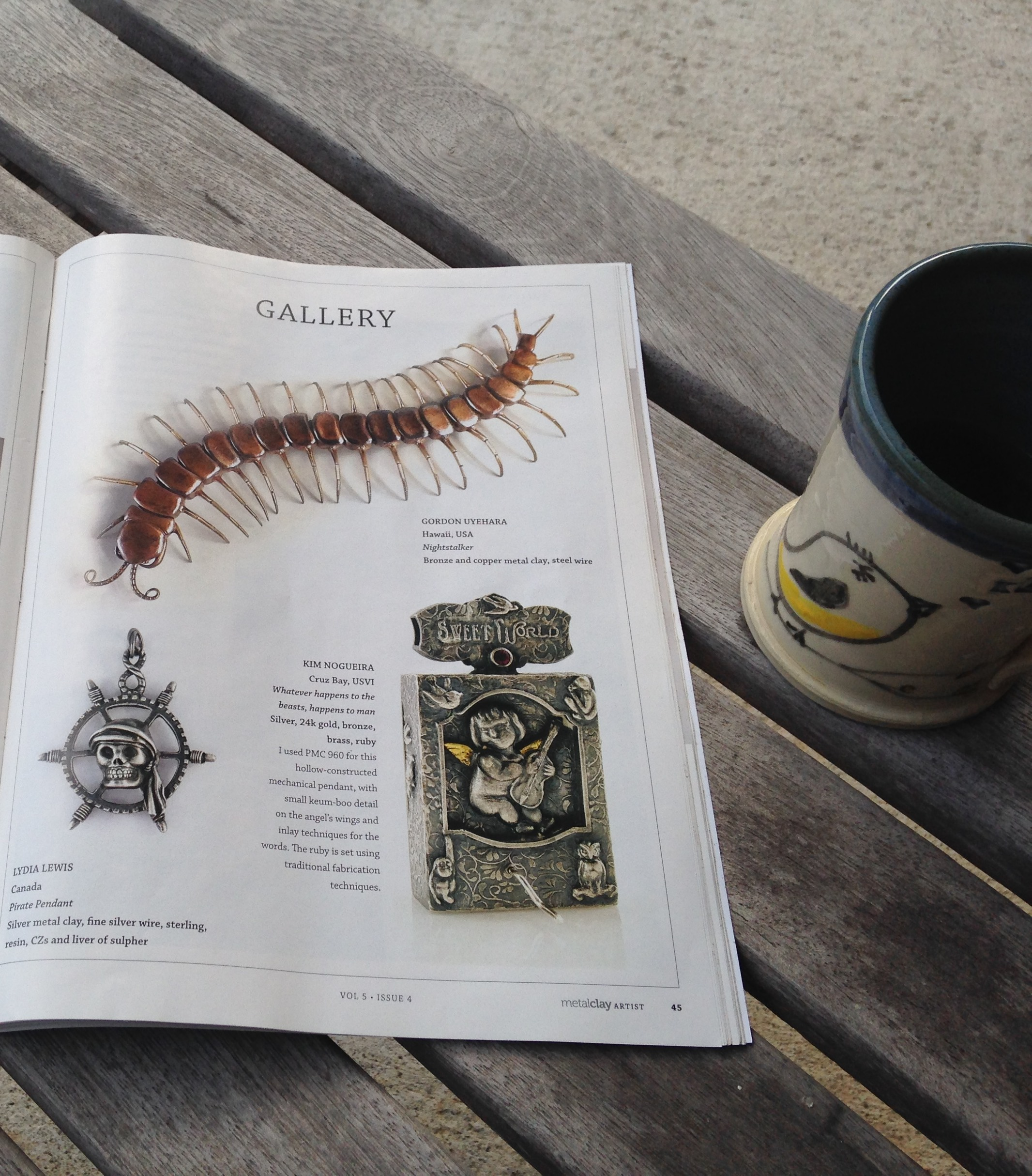 Kim Nogueira's angel automaton pendant in Metal Clay Artist Magazine