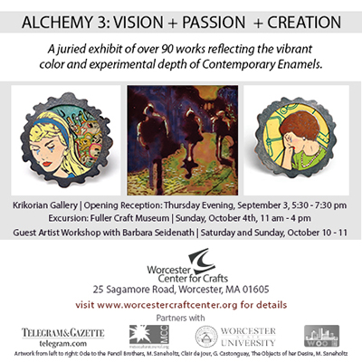 Alchemy 3 Enamelist Society Exhibition at the Krikorian Gallery