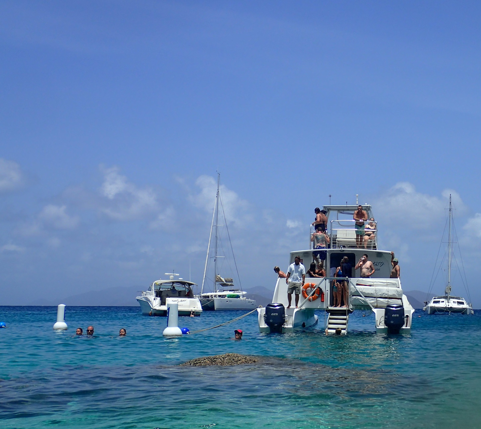 A perfect day of boating in the BVI's!