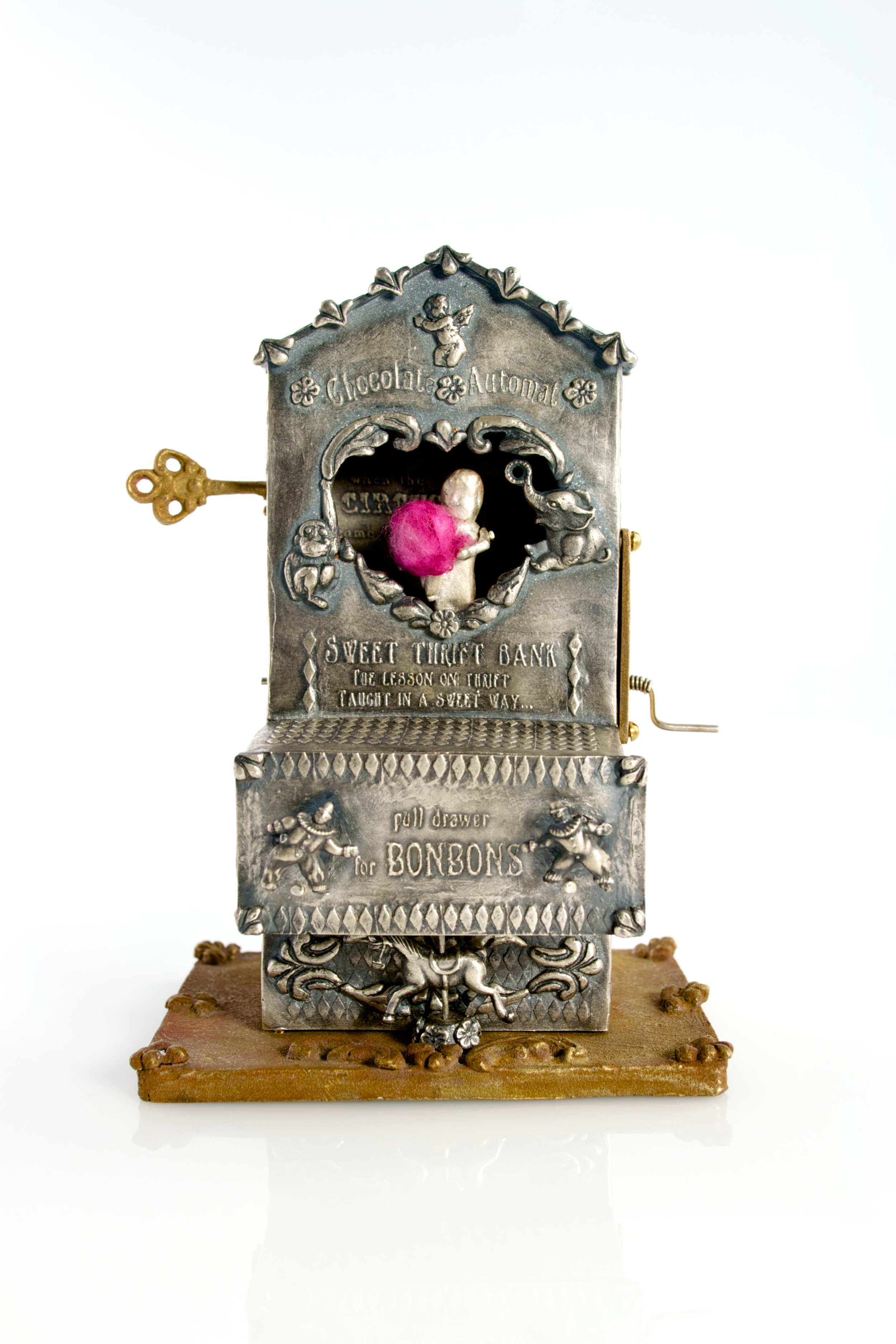 Reliquary of childhood memories  ; silver, bronze, brass, local cotton, India ink; 2012-13