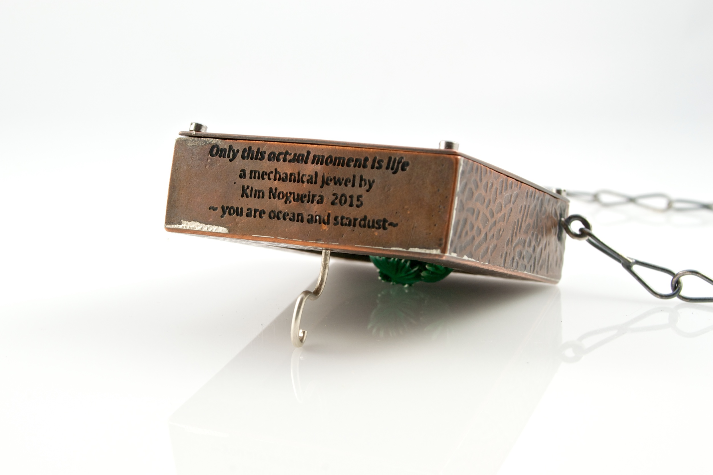 """""""Only this actual moment is life"""" automaton pendant by Kim Nogueira"""