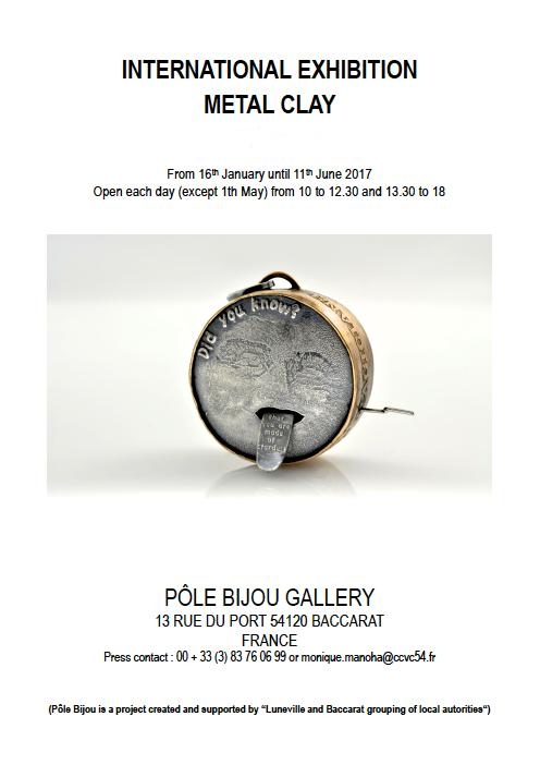International metal clay exhibition invitation