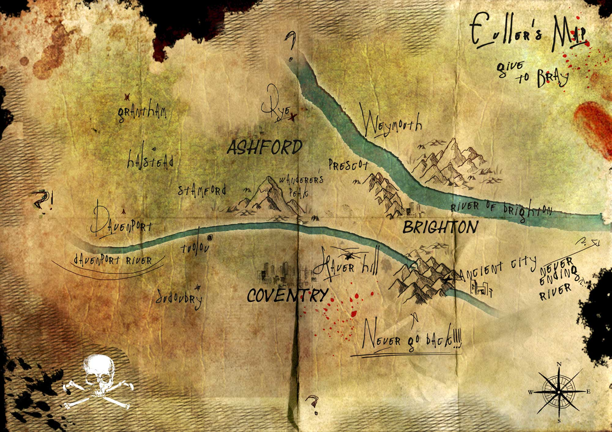 Bray's map from The Last Escape