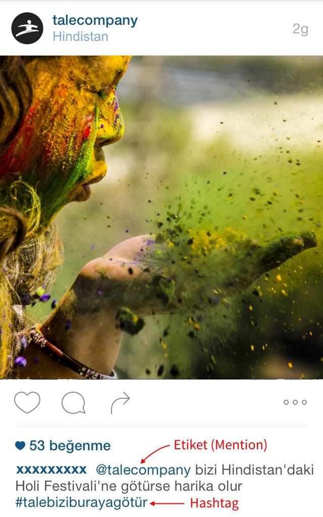 Instagram örneği