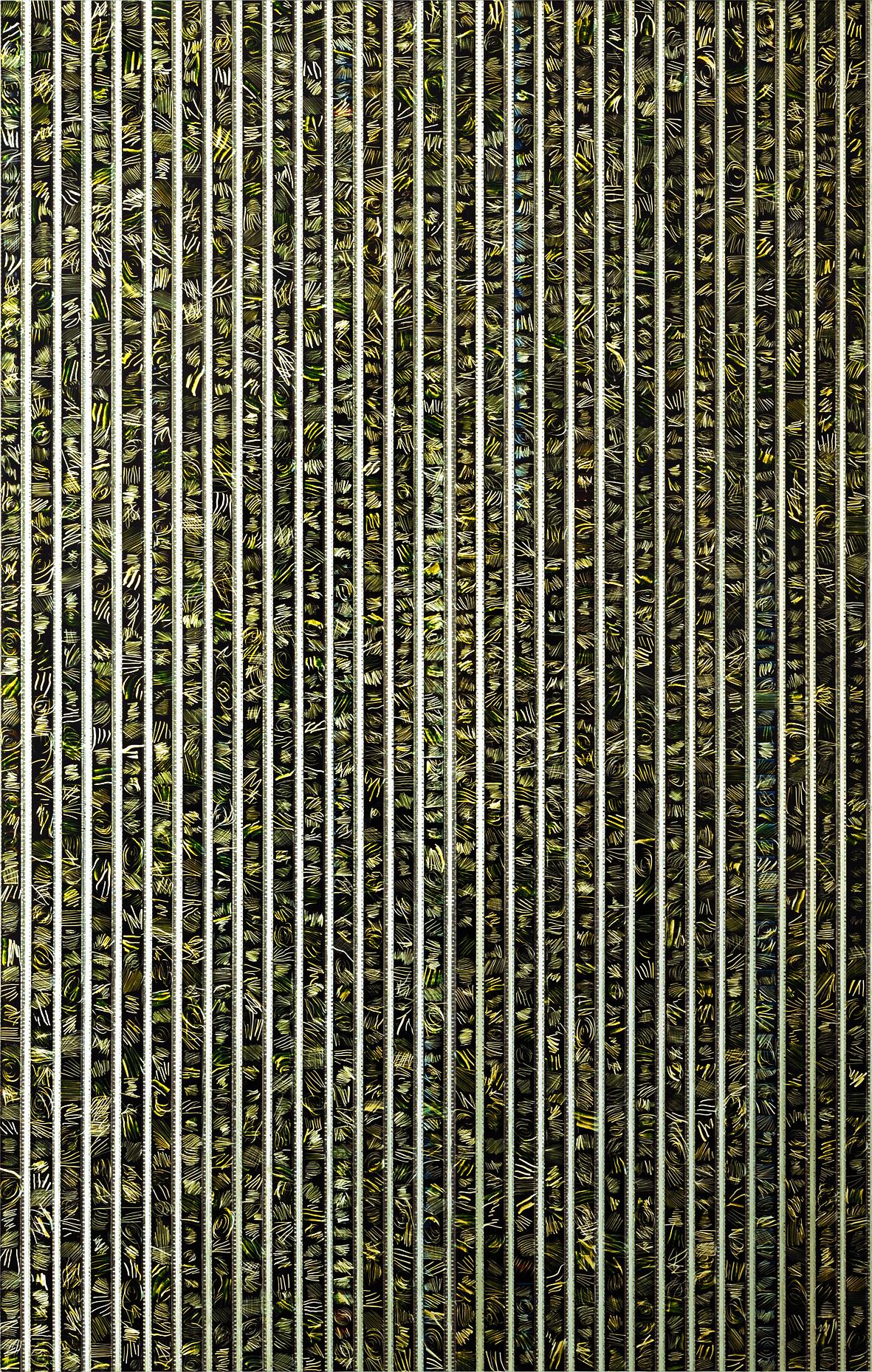 SCRATCHED AND CONFUSED by Etienne de Fleurieu , collage de pellicule cinématographique 35 mm