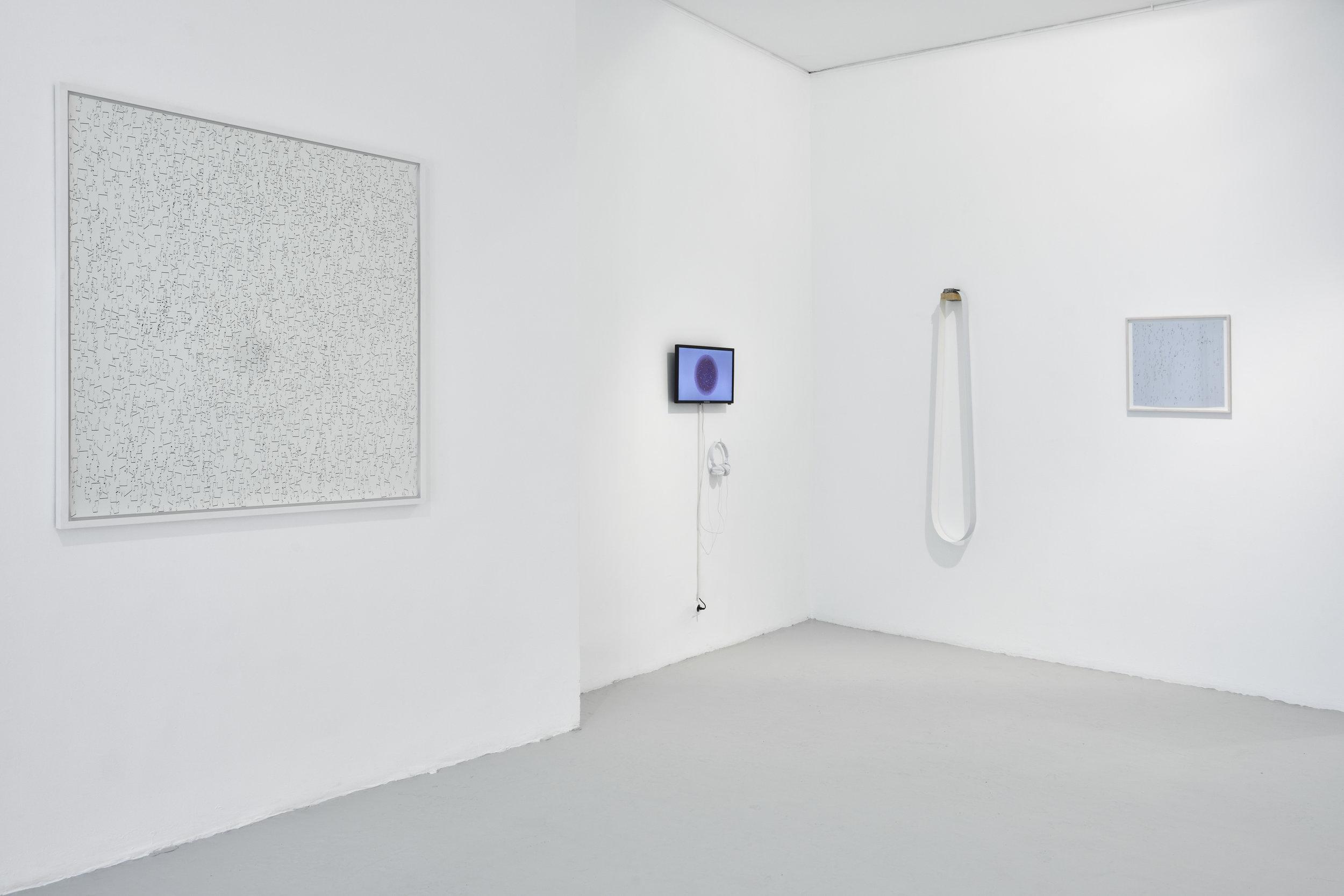 Vue d'ensemble de l'exposition Resonance by Etienne de Fleurieu à la Galerie du Jour Agnès b