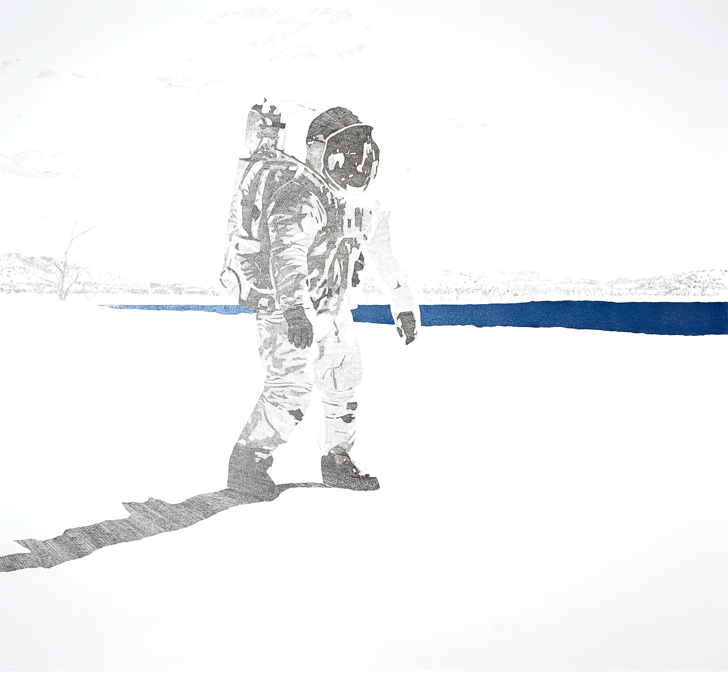 Blue Lake by Etienne de Fleurieu, drawing