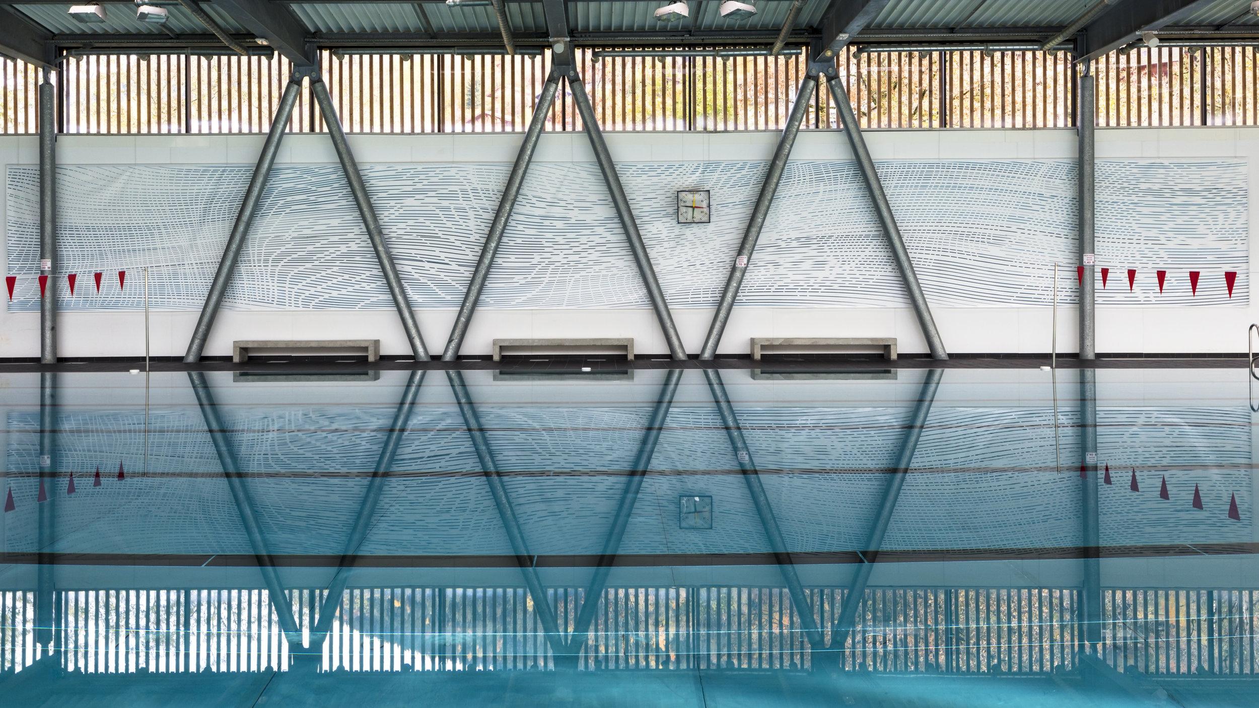 The Big Pool by Etienne de Fleurieu, peinture sur bâche